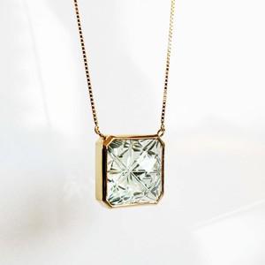 Green Quartz KIRIKO Necklace (Square)