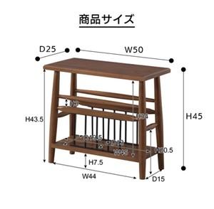 Mindy Wood Side Table / 北欧アンティークスタイル ミンディ 木製サイドテーブル