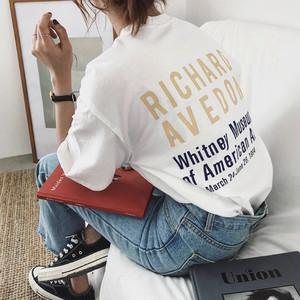 【送無】*予約*3color RICHARD T オーバーサイズ ゆるTシャツ ロゴT 夏 大人カジュアル プチプラ 送料無料