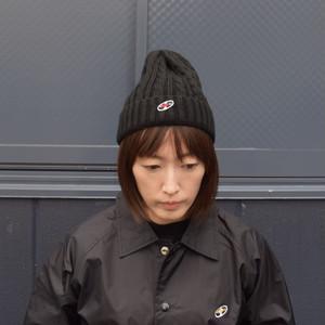ビーニー(レコードワッペン) ブラック 2019秋冬新作 F ユニセックス WATERFALL コラボ商品