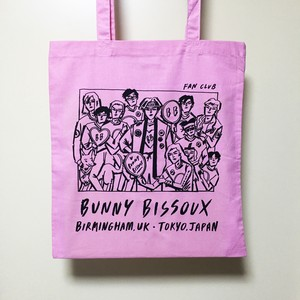 BUNNY BISSOUX FAN CLUB - トートバッグ - PINK