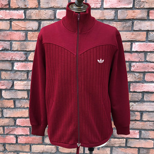 1980s Adidas Acrylic Rib Track Top Made In West Germany