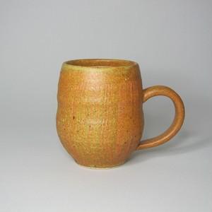 ビアマグ タル型 黄  陶器(信楽焼)製【SO-4835】