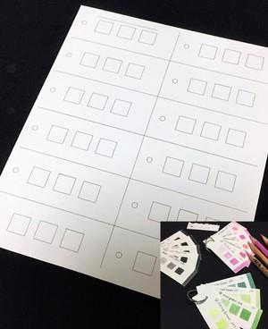 【ストーンヘンジ使用】色見本作成用カード(120枚用)