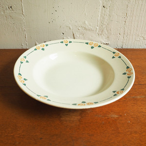 Badonviller(バドンヴィレー)のオレンジローズのスープ皿