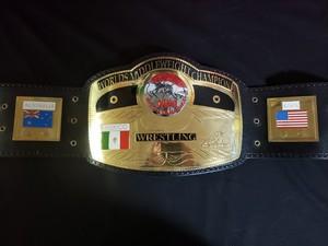 セール!NWA世界ミドル級チャンピオンベルト 黒バージョン