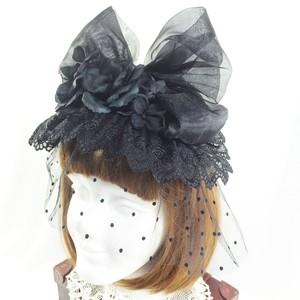 ヘッドドレス「シュライフェティ」漆黒