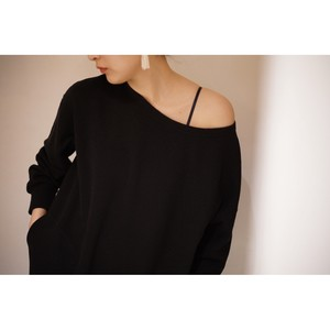 WMV / BOAT NECK SWEAT W(BLACK)