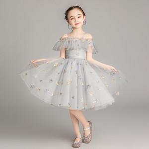 8418子供ドレス キッズドレス フォーマルドレス ジュニア 女の子ドレス  発表会 コンクール ピアノ 演出服 白色ホワイト90-160cm