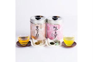 「壱之棒」「洛之葉・玉露」お茶缶セット(送料無料)