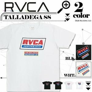 AJ041-310 ルーカ 人気ブランド デザインTシャツ TALLADEGA SS スポーツ メンズ 海 半袖 新作 カジュアル プレゼント 白黒 S M RVCA Tシャツ