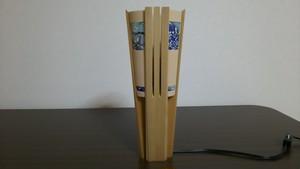 【いやしとやすらぎの空間】を演出する 青森ヒバ 木製 スタンドライト   No.   020