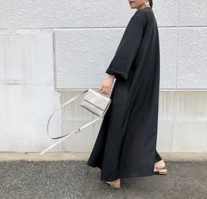 【即納】オーバーシャツワンピース|ブラック