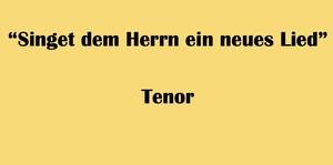 """テノール用 """"Singet dem Herrn ein neues Lied"""" BWV 225 Karaoke for Tenor"""