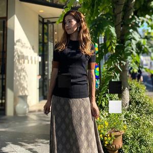 DOUBLE STANDARD CLOTHING(ダブルスタンダードクロージング) レーヨンナイロン ダル糸ニット 2020秋物新作[送料無料]