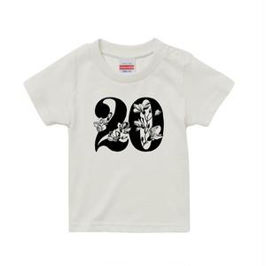 20執念 DOBERMAN キッズTシャツ(バニラホワイト)