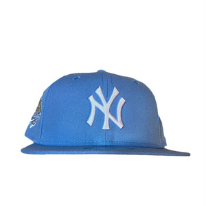 NEW ERA New York Yankees 1999 World Series 59Fifty Fitted / Ice Blue×White (Pink Brim)