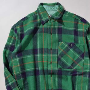 【Mサイズ】JASON ジェイソン POCKET CHECK SHIRTS 長袖シャツ GREEN グリーン 400602190889