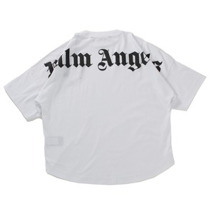 PALM ANGELS Logo Over Tee White Unisex