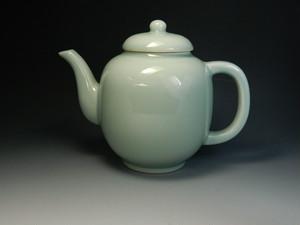 煎茶道具 水注 青磁 丸 新品