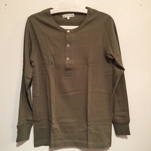 【Merz b.Schwanen】206 HENLEY NECK LONG SLEEVE [ARMY]