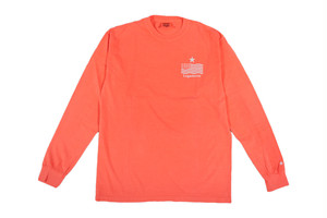 """【""""USA"""" vintage long sleeve】/ neon red"""
