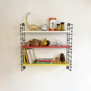 """TOMADO"" Metal Wall Shelving Design by A. D. Dekker 60's オランダ"