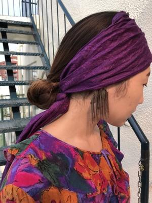 Vintage african batik purple scarf ( ヴィンテージ アフリカンバティック パープル スカーフ )