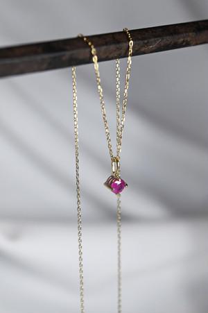 K18 Ruby Pendant 18金ミャンマー産ルビーペンダント