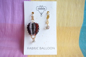 FABRIC BALLOON mini フープイヤリング《circular》