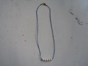 5粒Perl necklace 寒色系