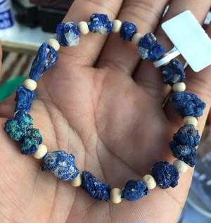 アズライト(藍銅鉱)の原石ブレスレット