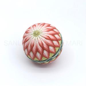 讃岐かがり手まり「16菊(ぼかし菊)」_MA008-1458