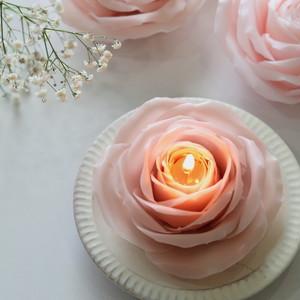 【N様専用ページ】天然蜜蝋 くすみピンクの薔薇キャンドル