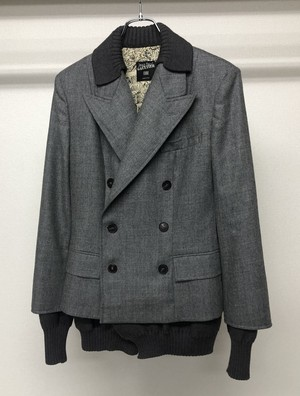 1990s JEAN PAUL GAULTIER 2 in 1 LAYERED DB TAILORED JACKET