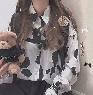 【トップス】日系レトロルーズ原宿風ファッションシャツ