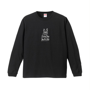 hntbk long sleeve tee every dog has his day(BLACK)