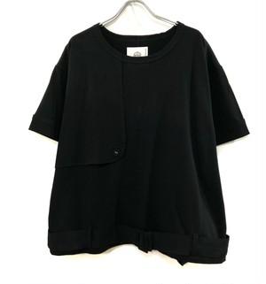 bedsidedrama リラックストレンチ Tシャツ BLACK