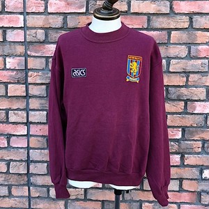 1990s Aston Villa F.C. Asics C/N Sweat Shirt / Large