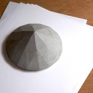 セメントダイヤモンドペーパーウェイト / オブジェ(大)