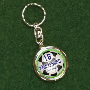 サッカーチーム用オリジナル記念メダル【キーホルダー付き】