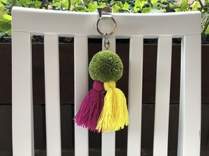 Wayuu New Pom and Tassel Keyring no.2