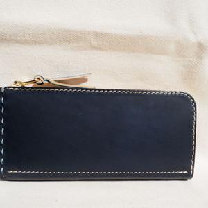 L字ファスナーの長財布 / wallet ネイビー