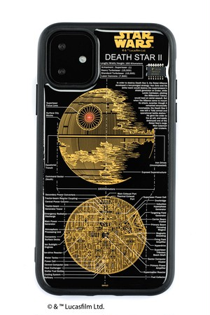 FLASH DEATH STAR 基板アート iPhone 11 ケース  黒【東京回路線図A5クリアファイルをプレゼント】