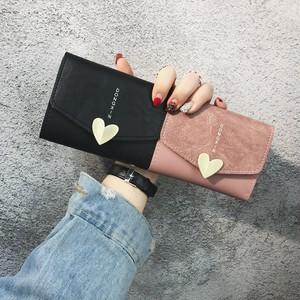 【小物】韓国系ハート飾りスウィートアルファベットレトロエレガント少女財布