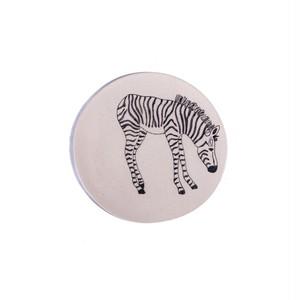 Zebra profil シマウマ 正円プレート スモール
