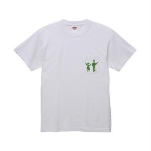 ポッケ付き蜜Tシャツ