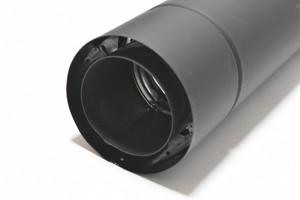 ホンマ製作所 黒耐熱 二重 ステンレス 直筒L813 φ106mm