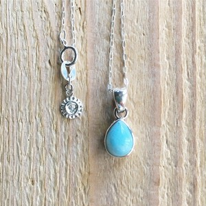 Larimar drip Necklace