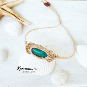 chrysocolla macrame bracelet
